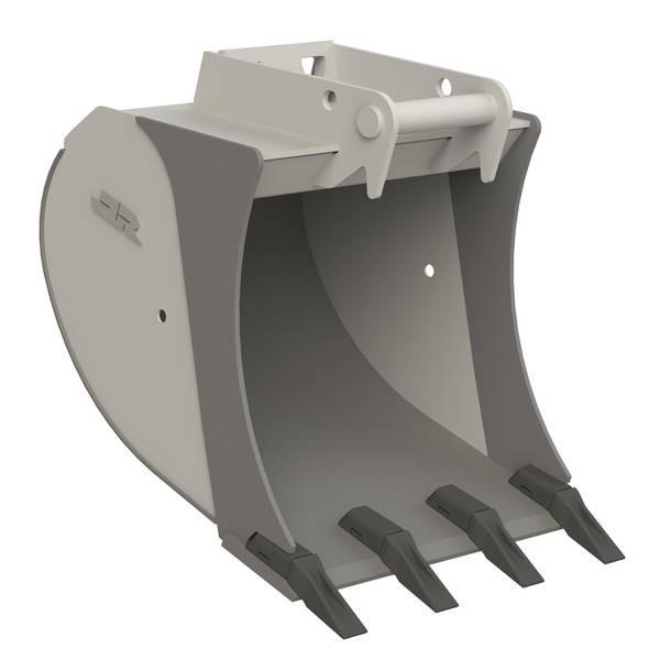 Tieflöffel Standard für Bagger (6 bis 12 t) (3D-Grafik)