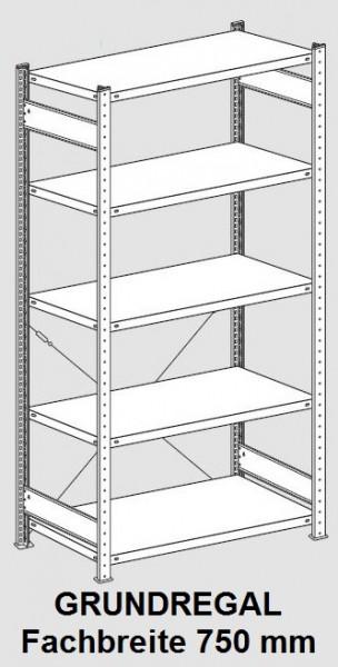 Büro-Grundregal 750/1800 - Stecksystem