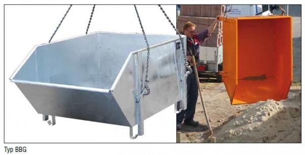 Baustoff-Behälter BBG-100 für Stapler opt. Kräne