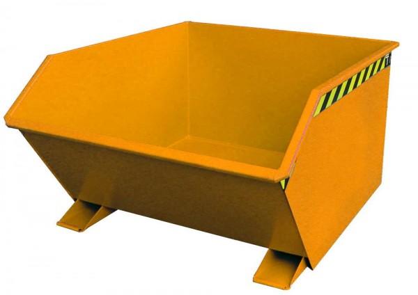 Kippbehälter Typ GU 1000 - Gelborange RAL 2000