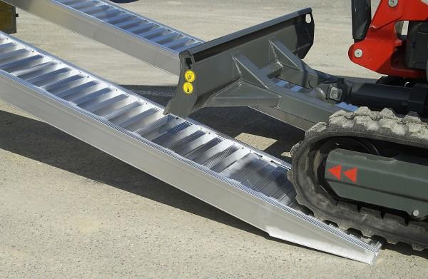 Aluminium Verladeschienen AVS 80 für Minibagger bis 4 Meter lang