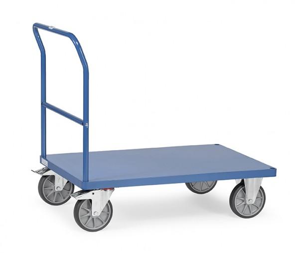 Fetra Schiebebügelwagen mit Blechplattform