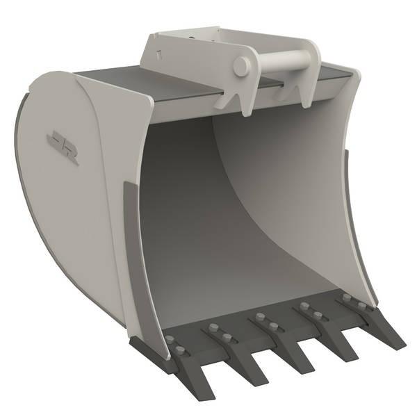 Tieflöffel Standard für Minibagger (1 bis 6 t) (3D-Grafik)