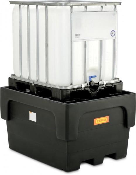IBC-Auffangwanne aus PE mit Stützkreuz für 1 1000-Liter-IBC