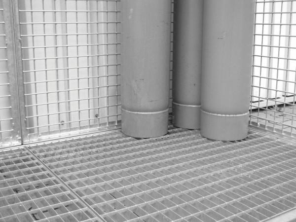 Gitterrostboden für Gasflaschen-Container GFC-M-1
