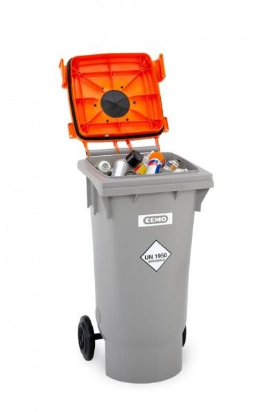 CEMO Spraydosen-Sammelbehälter 120 Liter - Fahrbar