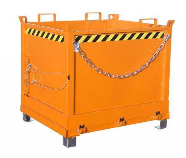 Klappbodenbehälter Typ FB 1000 - Gelborange RAL 2000