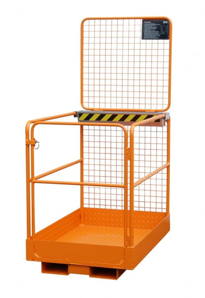 Stapler-Arbeitskorb Typ SIKO/L - Gelborange RAL 2000