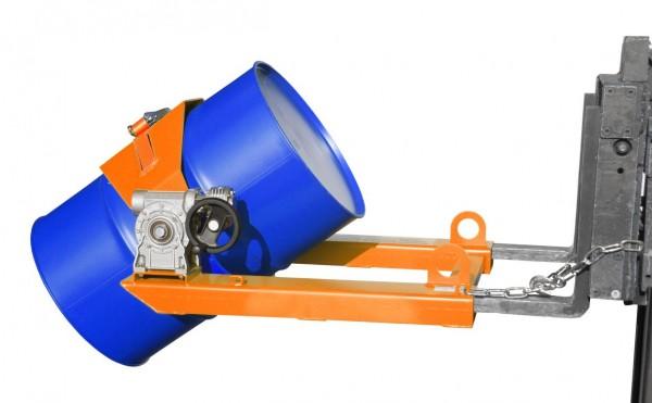 Stapler-Fasskipper Typ FLEX-HK - Gelborange RAL 2000