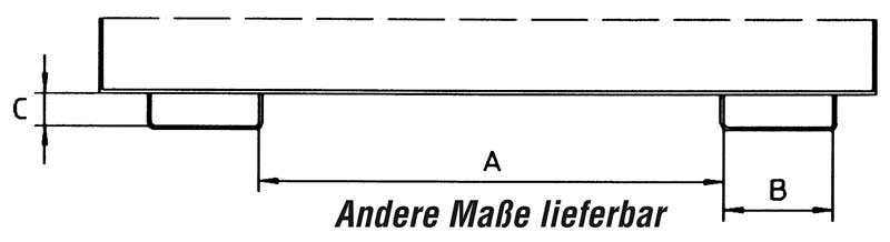 Einfahrtaschen-Innenmaße (mm)