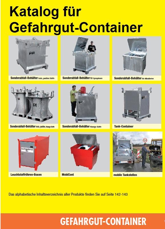 Katalog für Gefahrgut-Container